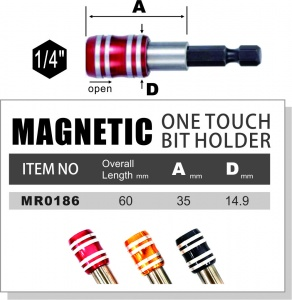 One Touch Quick Release Bit Holder