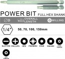 POWER BIT FULL HEX SHANK
