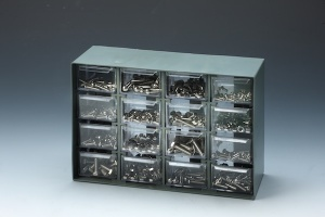 520 PCSSTAINLESS MACHINE BOLT & HEX NUT ASSORTMENTwith 16-DRAWER CABINET (235x88x163mm)