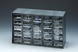1,001 PCSFASTENER ASSORTMENTwith 25-DRAWER CABINET (260x97x168mm)