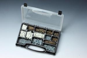 635 PCS CHIPBOARD, WOOD SCREW & PLUG ASSORTMENT