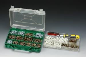 1,000 PCS CHIPBOARD SCREW & PLUG ASSORTMENT